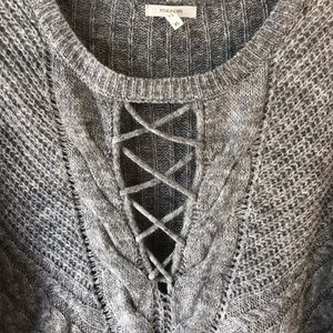 Maurices Sweaters - Maurices Gray Sweater Lace Up Style Front XL